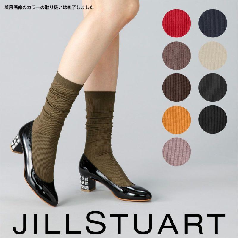 JILLSTUART(ジルスチュアート)OPAQUEオペイク60デニール相当リブハイソックス日本製レディース女性婦人105-6732