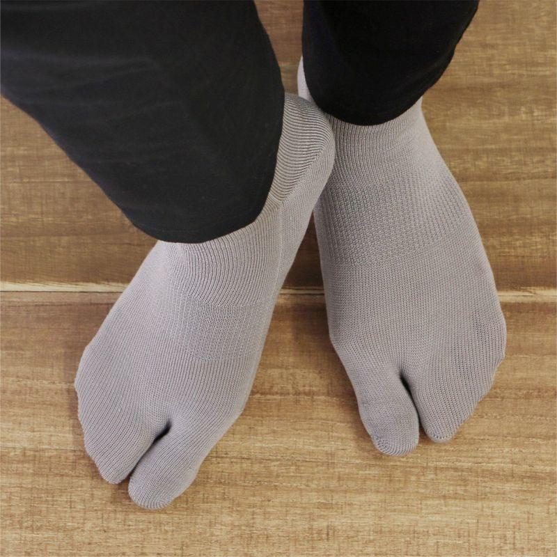ホールガーメントシルク(絹)混足袋ソックス冷えとり靴下にも最適NAIGAICOMFORTナイガイコンフォートメンズ男性靴下ソックスレッグソリューション2300-517