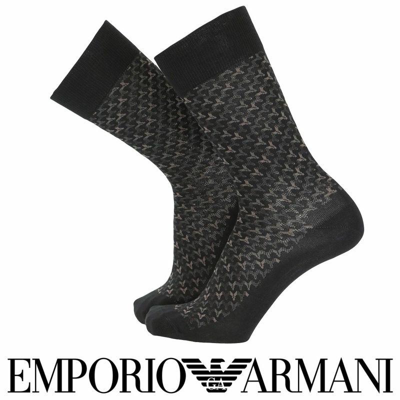 EMPORIOARMANIエンポリオアルマーニ日本製カジュアルイタリア糸使用毛混クルー丈メンズ男性紳士ソックス靴下男性メンズプレゼント贈答ギフト02341276