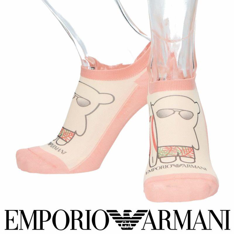 EMPORIOARMANIエンポリオアルマーニ日本製サーファーベアプリントスニーカー丈メンズカジュアル靴下男性紳士プレゼントギフト02322293
