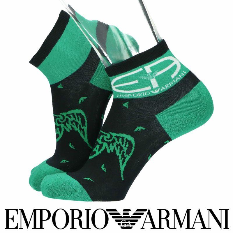 EMPORIOARMANIエンポリオアルマーニ日本製40周年ロゴ&イーグルBOSSショート丈メンズカジュアル靴下男性紳士プレゼントギフト02322290