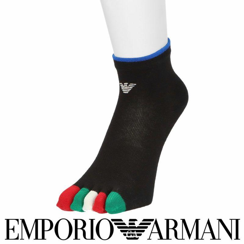 EMPORIOARMANIエンポリオアルマーニ日本製5本指イーグル刺繍クルー丈メンズカジュアルソックス靴下男性紳士プレゼントギフトバレンタイン02322804