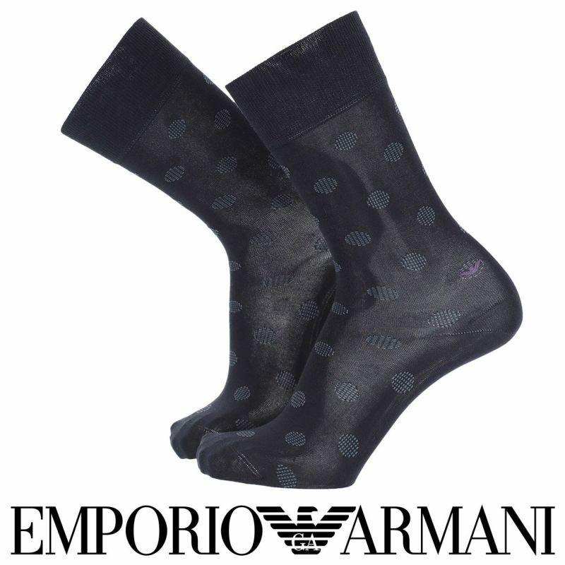 EMPORIOARMANIエンポリオアルマーニビジネスDressイタリア製高級綿糸「ZERO」使用シークレットイーグルドットクルー丈メンズ男性紳士ソックス靴下男性メンズプレゼント贈答ギフト02312459