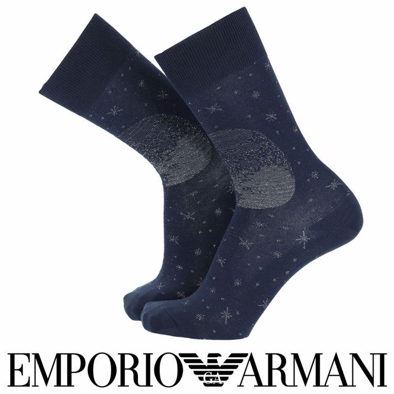 EMPORIOARMANIエンポリオアルマーニ日本製カジュアルコスモマンガベアショットリンクスクルー丈メンズ男性紳士ソックス靴下男性メンズプレゼント贈答ギフト02342334
