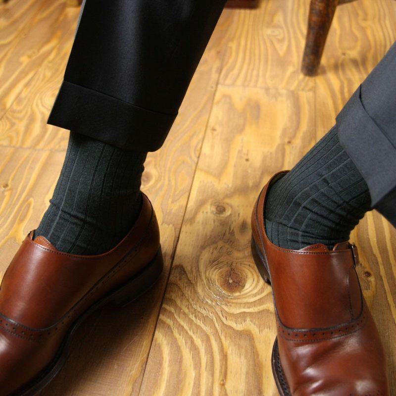 NAIGAITRADITIONALナイガイSUPERIORスーペリオール日本製メリノウールロングホーズハイソックス紳士靴下男性メンズプレゼント贈答ギフト02391900