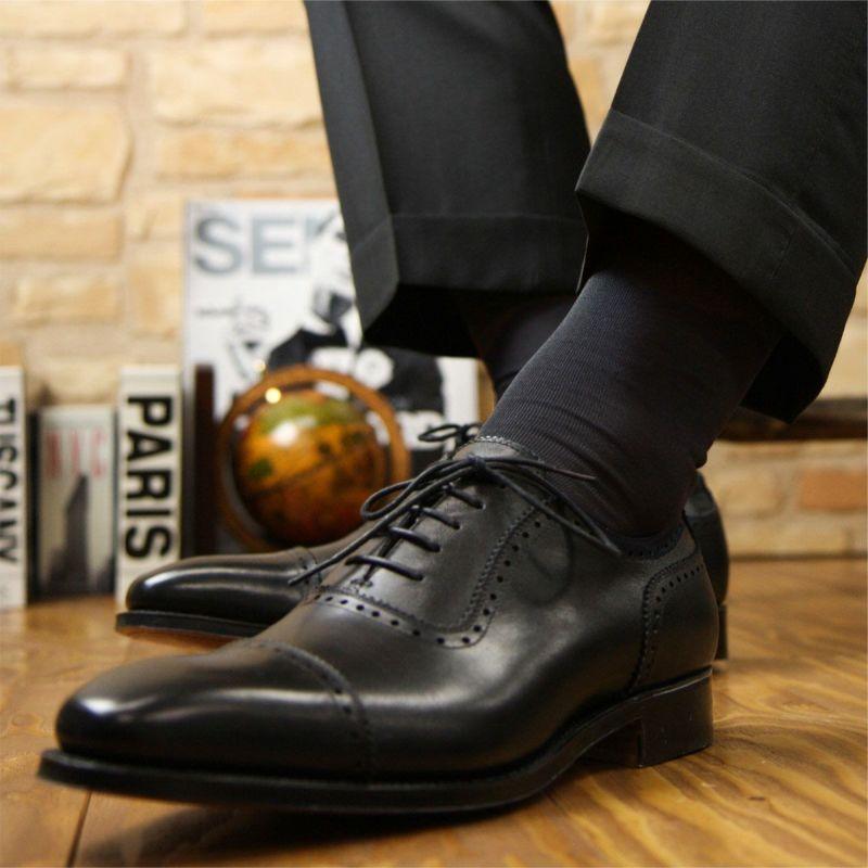 NAIGAITRADITIONALナイガイSUPERIOR(スーペリオール)海島綿シーアイランドコットン高級靴下綿100%メンズロングホーズ無地ハイソックス男性メンズプレゼント贈答ギフト2392-900