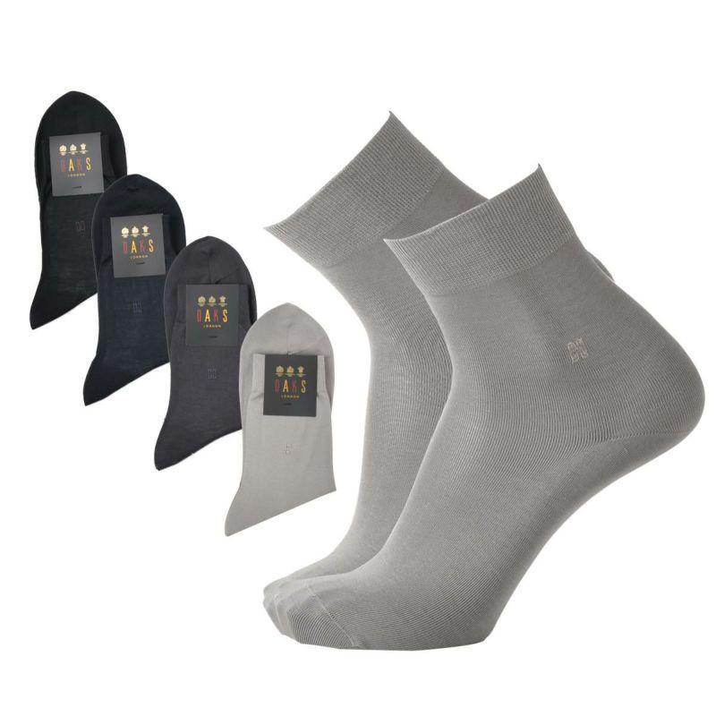 DAKS(ダックス)ビジネスショート丈ソックス綿100%ストレッチ綿使用男性メンズプレゼント贈答ギフト2502-235