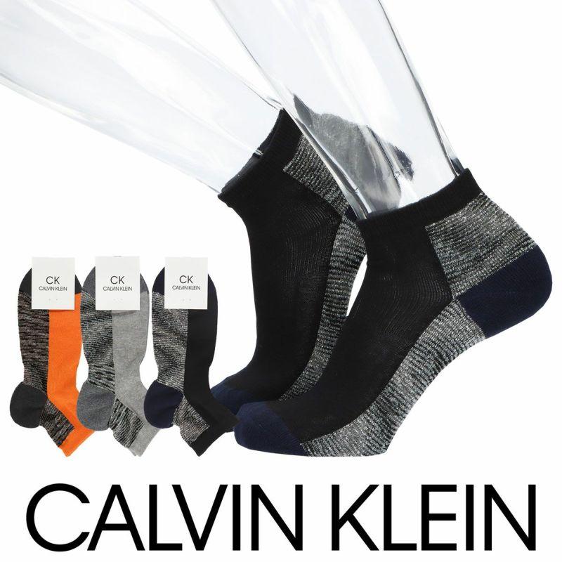 CalvinKleinカルバンクライン日本製Strech&HeelHoldつま先踵切替柄ショート丈メンズカジュアルソックス靴下男性紳士プレゼントギフトバレンタイン02522505