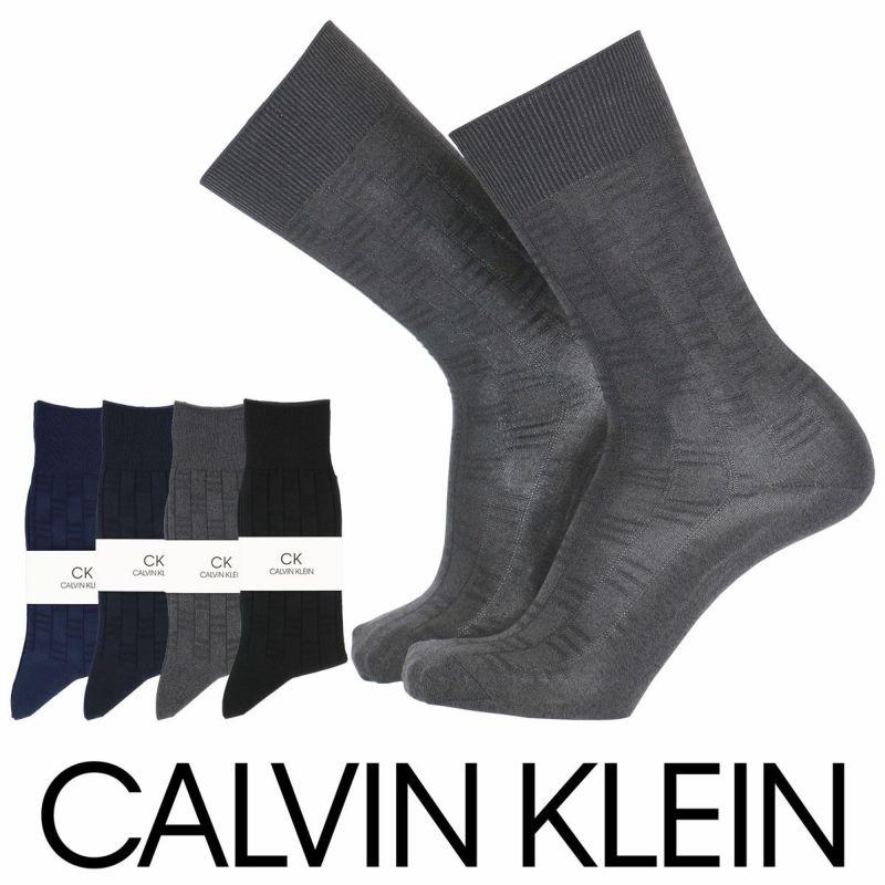 CalvinKlein(カルバンクライン)カジュアルリンクス柄抗菌防臭大きいサイズクルー丈メンズ紳士ソックス靴下日本製男性メンズプレゼント贈答ギフト2542-160