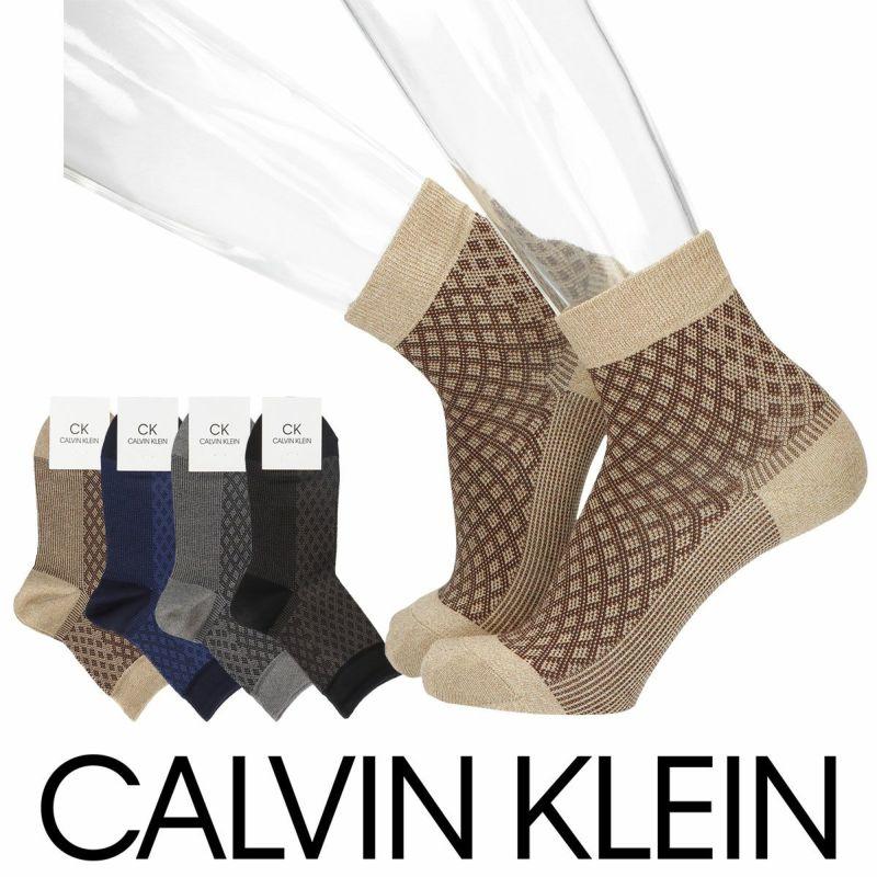 CalvinKleinカルバンクライン縦柄ミドル柄ショート丈メンズカジュアルソックス靴下男性紳士プレゼントギフトバレンタイン02542196