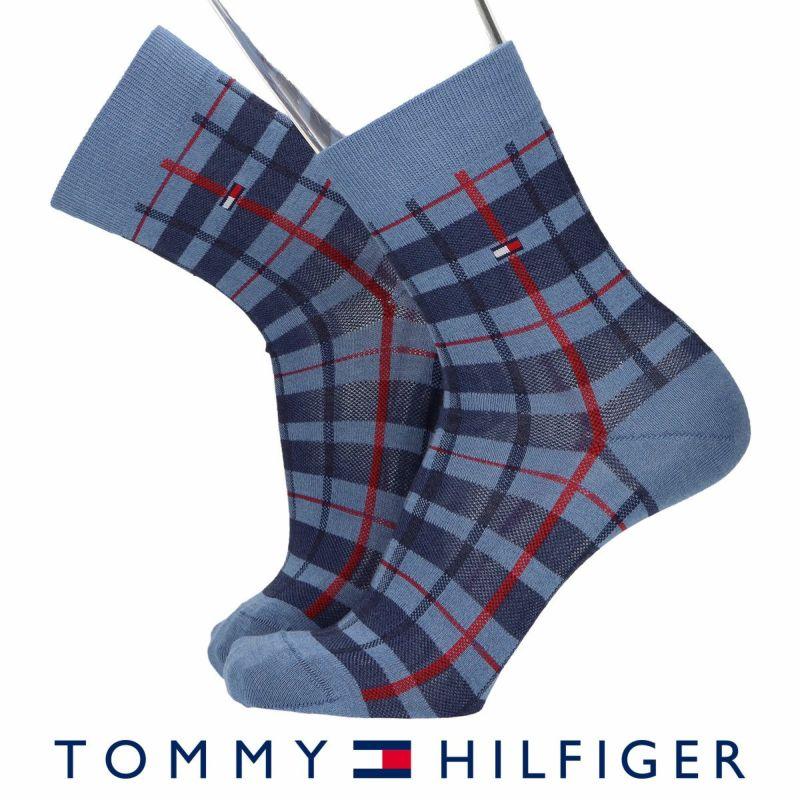 TOMMYHILFIGERトミーヒルフィガーチェック柄20cm丈ショート丈メンズカジュアルソックス靴下男性紳士プレゼントギフトバレンタイン02552597