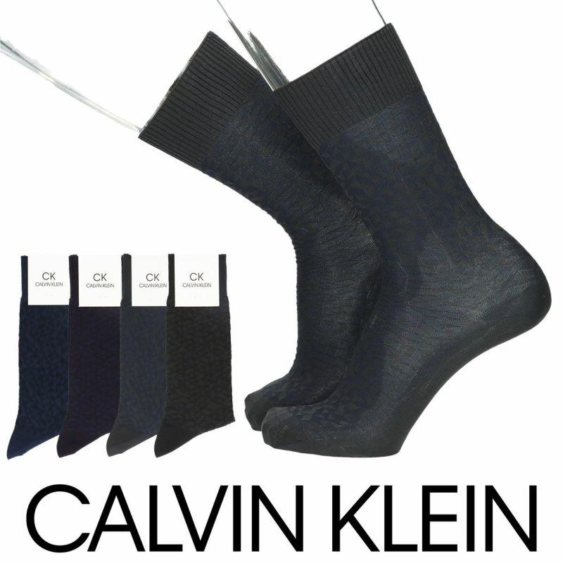 CalvinKleinカルバンクライン日本製抗菌防臭快適口ゴム綿混ショットリンクス柄クルー丈メンズビジネスソックス靴下男性紳士プレゼントギフトバレンタイン02562280