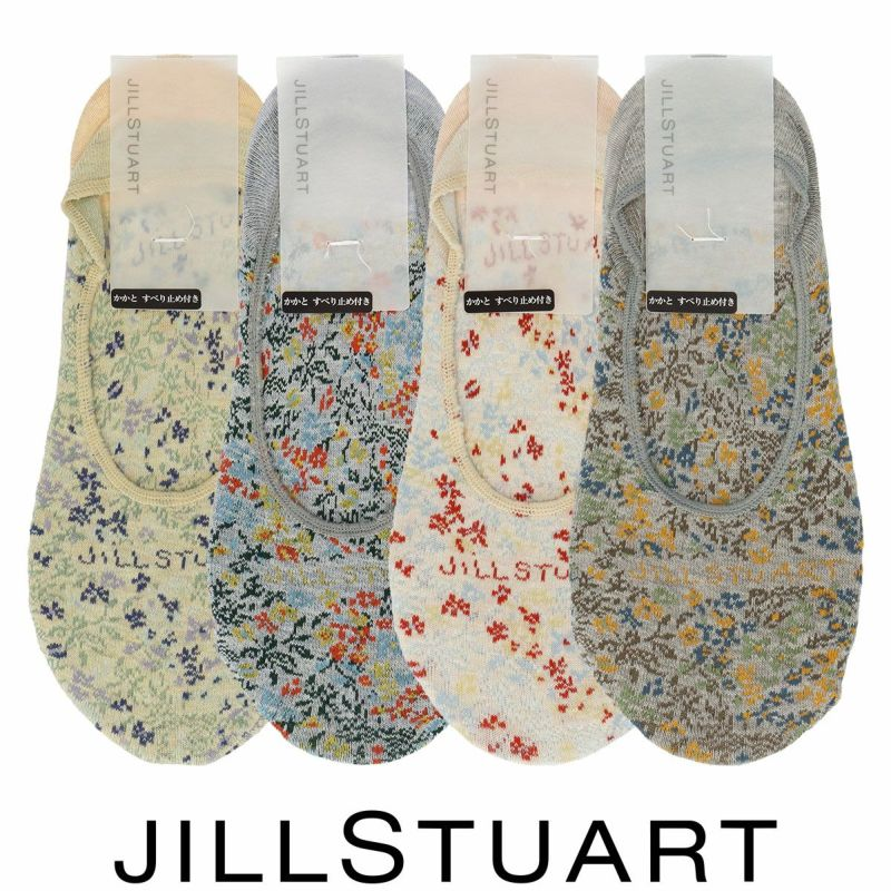 JILLSTUARTジルスチュアート日本製ボタニカルダイカルディナフラワー柄レディースフットカバーカバーソックス靴下女性婦人プレゼントギフト03145432