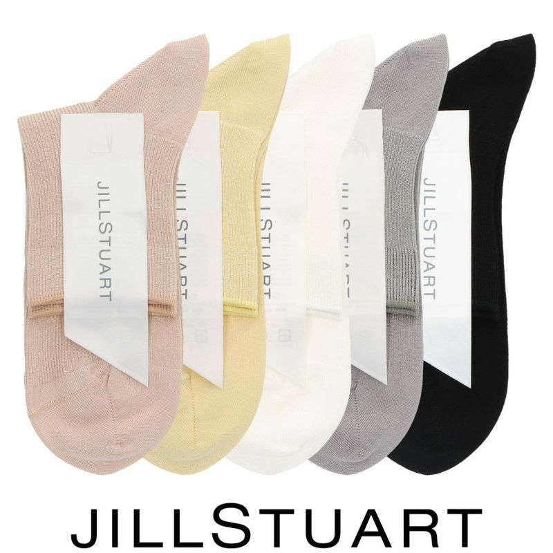 JILLSTUARTジルスチュアートスーピマ綿JILL1×1リブショート丈レディースソックス靴下女性婦人プレゼントギフト03145501