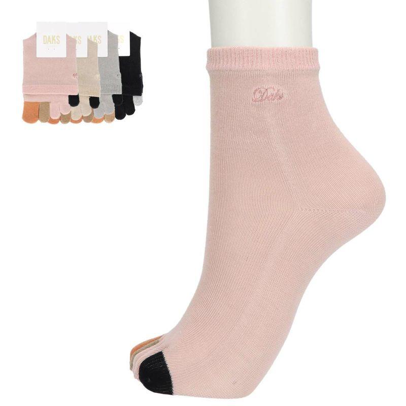 DAKS(ダックス)TOPゴム無しショート丈5本指ソックスレディースソックス婦人靴下プレゼント贈答ギフト3367-221