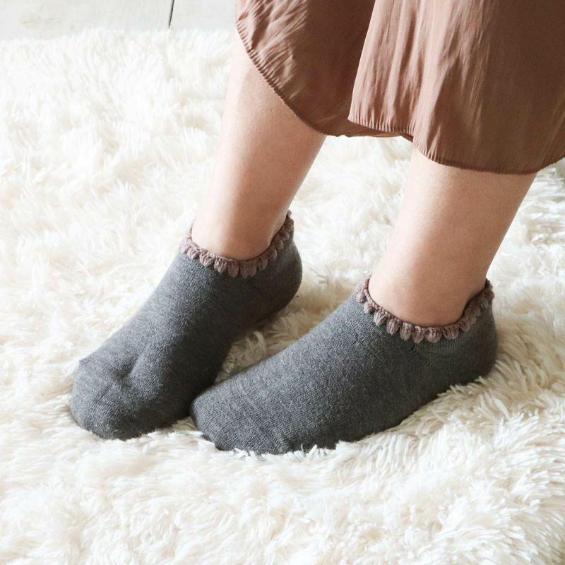 ハマグリパイルホームカバー滑り止め付き(室内用靴下)