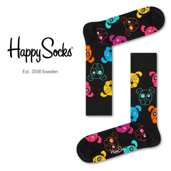 HappySocksハッピーソックスDOG(ドッグ)クルー丈綿混ソックス靴下ユニセックスメンズ&レディス1A113038