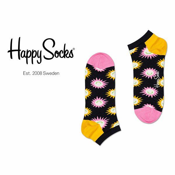 HappySocksハッピーソックスSUNNYSMILE(サニースマイル)スニーカー丈綿混ソックス靴下ユニセックスメンズ&レディスプレゼント贈答ギフト1A123017ポイント10倍