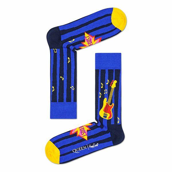 HappySocksハッピーソックス【Limited】HappySocks×QUEEN(クイーン)ANOTHERONEBITESTHEDUST(アナザーワンバイツザダスト)クルー丈ソックス靴下ユニセックスプレゼント贈答ギフト1A413017