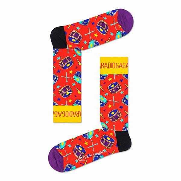 HappySocksハッピーソックス【Limited】HappySocks×QUEEN(クイーン)RADIOGAGA(レディオガ・ガ)クルー丈ソックス靴下ユニセックスプレゼント贈答ギフト1A413018