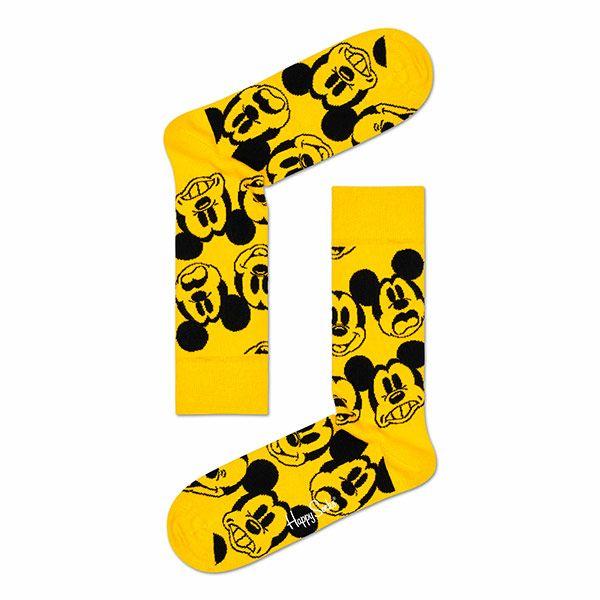 ハッピーソックス【Limited】HappySocks×Disney(ディズニー)FACEIT,MICKEY(フェイスイットミッキー)クルー丈ソックス靴下メンズ男性紳士【プレゼント贈答ギフト】10417031