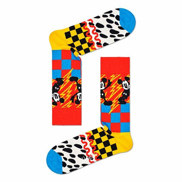 ハッピーソックス【Limited】HappySocks×Disney(ディズニー)MICKEY-TIME(ミッキータイム)クルー丈ソックス靴下メンズ男性紳士【プレゼント贈答ギフト】10417033
