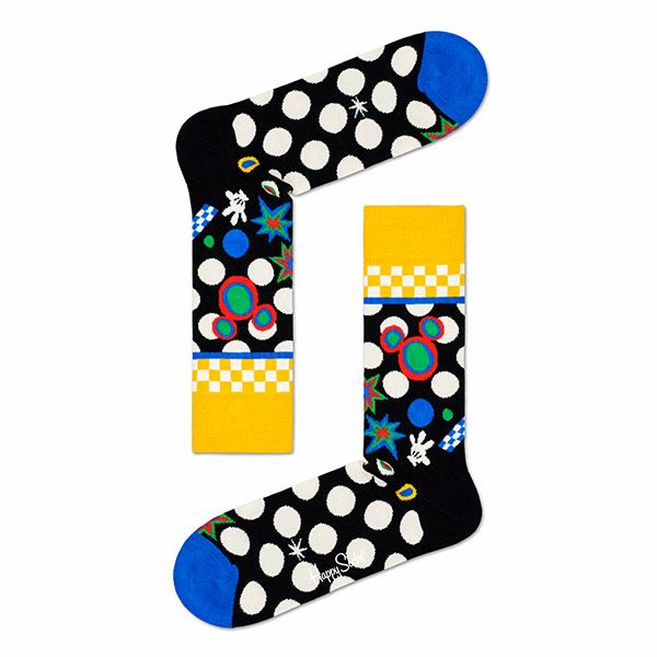 ハッピーソックス【Limited】HappySocks×Disney(ディズニー)TUNEIN(チューンイン)クルー丈ソックス靴下メンズ男性紳士【プレゼント贈答ギフト】10417036