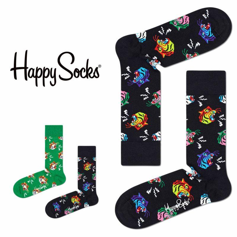 HappySocksハッピーソックスTIGER(タイガー)クルー丈綿混ソックス靴下ユニセックスメンズ&レディスプレゼント贈答ギフト10211014