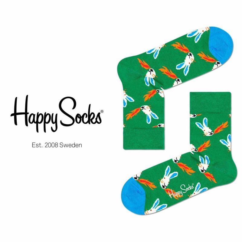 HappySocksハッピーソックスFIRERABBIT(ファイヤーラビット)ハーフクルー丈綿混ソックス靴下ユニセックスレディスプレゼント贈答ギフト10211043