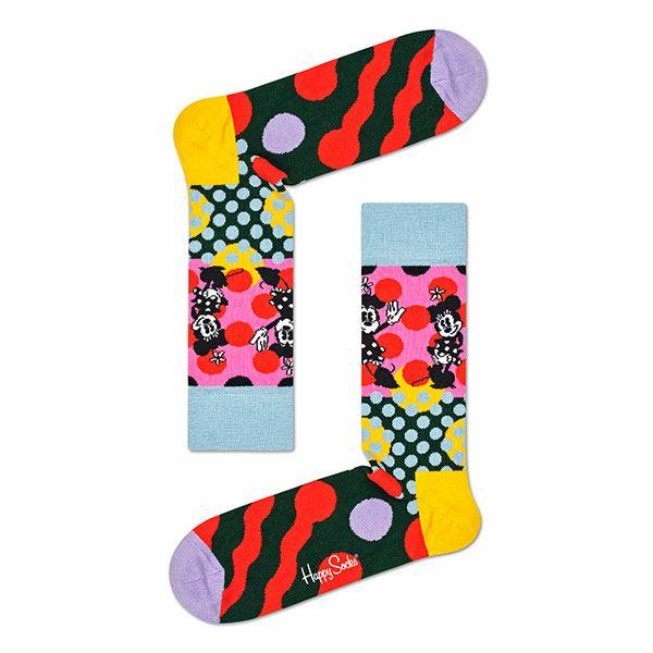 ハッピーソックス【Limited】HappySocks×Disney(ディズニー)MINNIE-TIME(ミニータイム)クルー丈ソックス靴下レディス女性婦人【プレゼント贈答ギフト】11417032