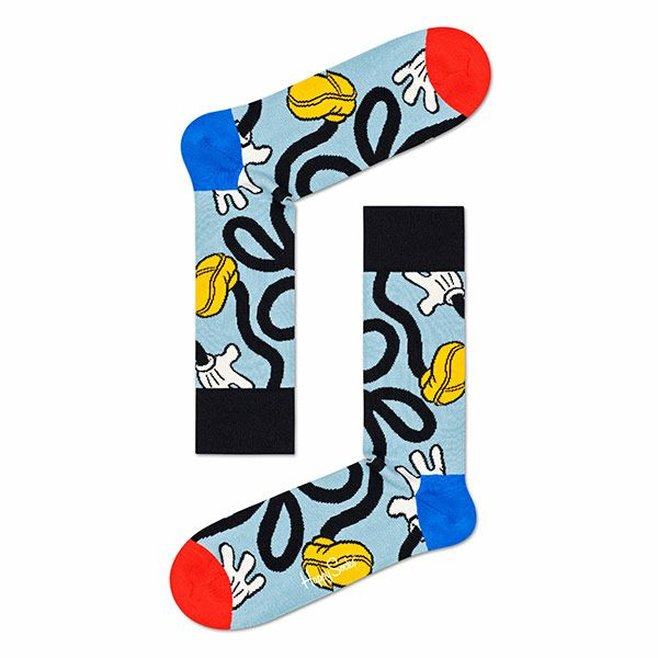 ハッピーソックス【Limited】HappySocks×Disney(ディズニー)MICKEYSTRETCH(ミッキーストレッチ)クルー丈ソックス靴下レディース女性婦人【プレゼント贈答ギフト】11417034