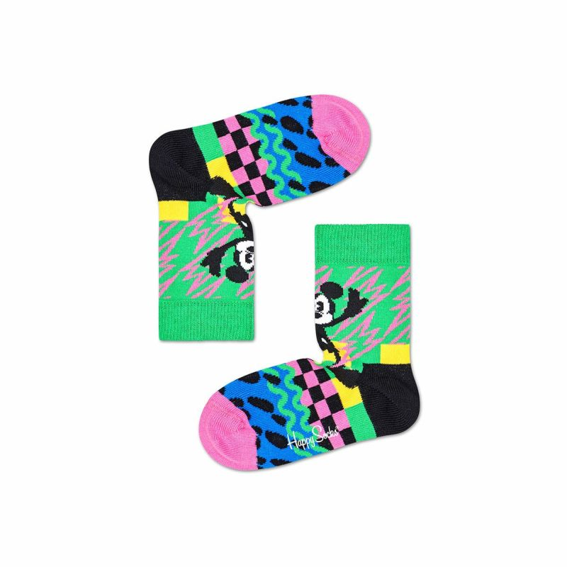 ハッピーソックス【Limited】HappySocks×Disney(ディズニー)MICKEY-TIME(ミッキータイム)子供クルー丈ソックス靴下KIDSジュニアキッズ12217013