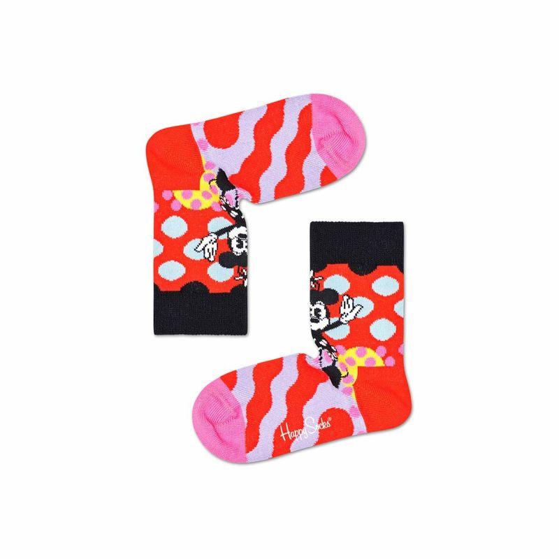 ハッピーソックス【Limited】HappySocks×Disney(ディズニー)MINNIE-TIME(ミニータイム)子供クルー丈ソックス靴下KIDSジュニアキッズ12217014