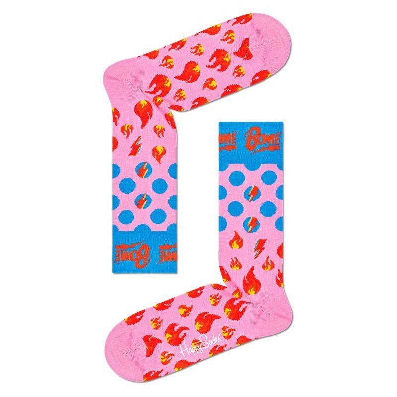 HappySocksハッピーソックス【Limited】HappySocks×DavidBowie(デヴィッド・ボウイ)ALADDINSANE(アラジンセイン)クルー丈ソックス靴下ユニセックスメンズ&レディスプレゼント贈答ギフト14211004