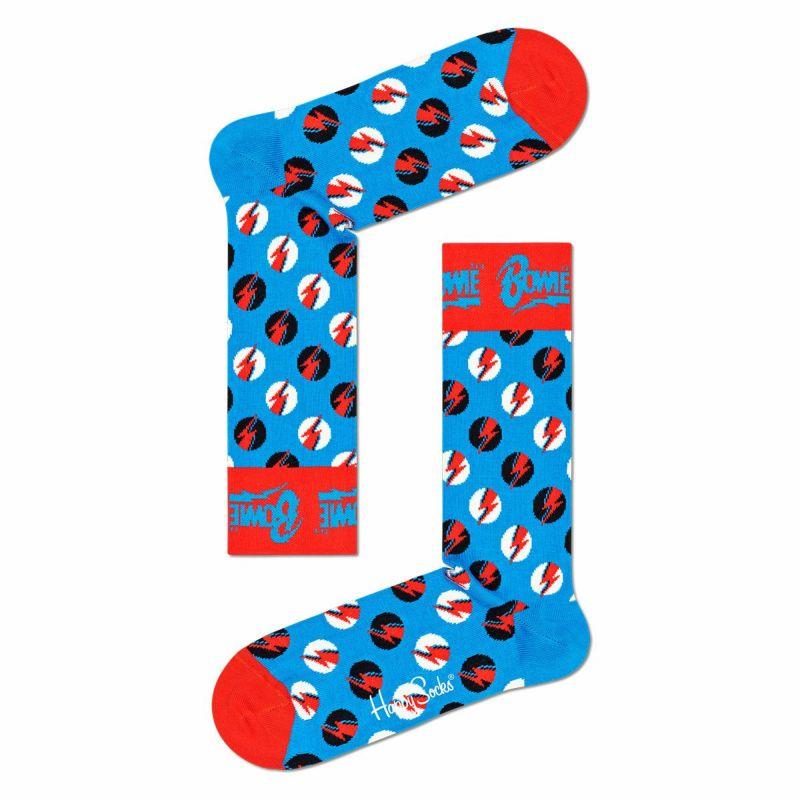 HappySocksハッピーソックス【Limited】HappySocks×DavidBowie(デヴィッド・ボウイ)BIGBOWIEDOT(ビッグボウイドット)クルー丈ソックス靴下ユニセックスメンズ&レディスプレゼント贈答ギフト14211006