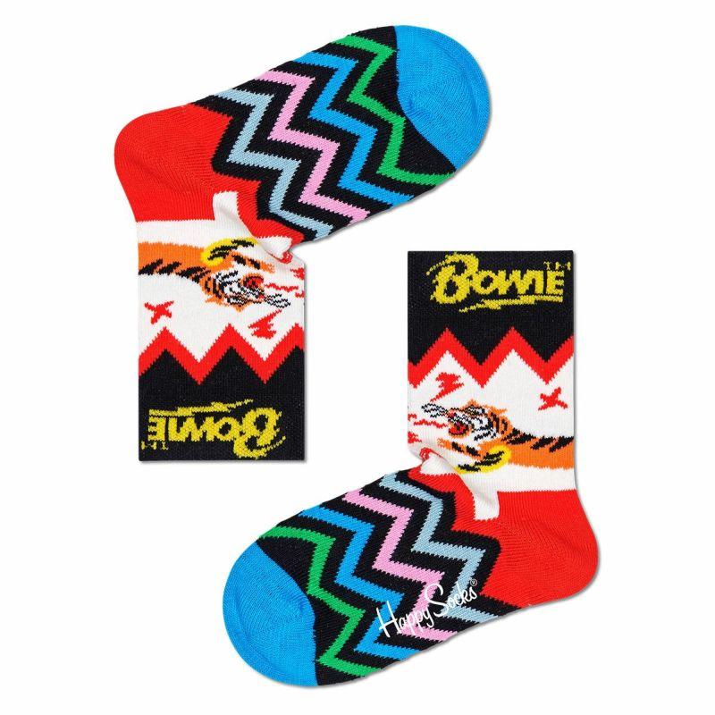 HappySocksハッピーソックス【Limited】HappySocks×DavidBowie(デヴィッド・ボウイ)ELECTRICTIGER(エレクトリックタイガー)子供クルー丈ソックス靴下KIDSジュニアキッズ14213004