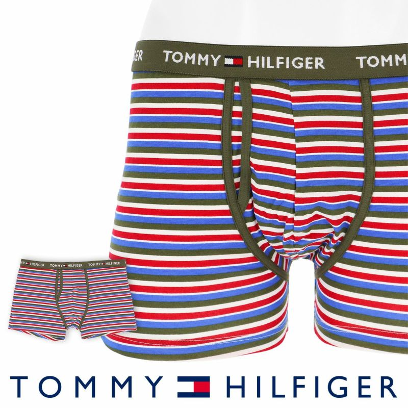 TOMMYHILFIGER トミーヒルフィガー男性メンズパンツTOMMYCOTTONKEYHOLETRUNKPRINTトミーコットンキーホールボクサーパンツ男性メンズプレゼント贈答ギフト53302016