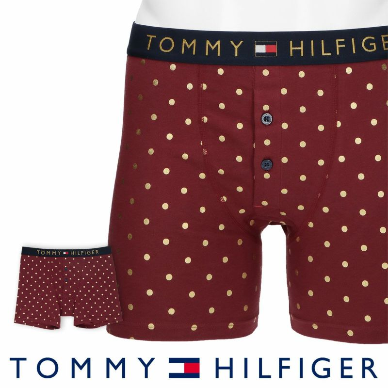 TOMMYHILFIGER トミーヒルフィガー男性メンズパンツTOMMYORGNLHOLIDAYBUTTONFLYBOXERBRIEFPRINTトミーオリジナルホリデーコットンプリントボタンフライボクサーパンツ男性メンズプレゼント贈答ギフト53302014