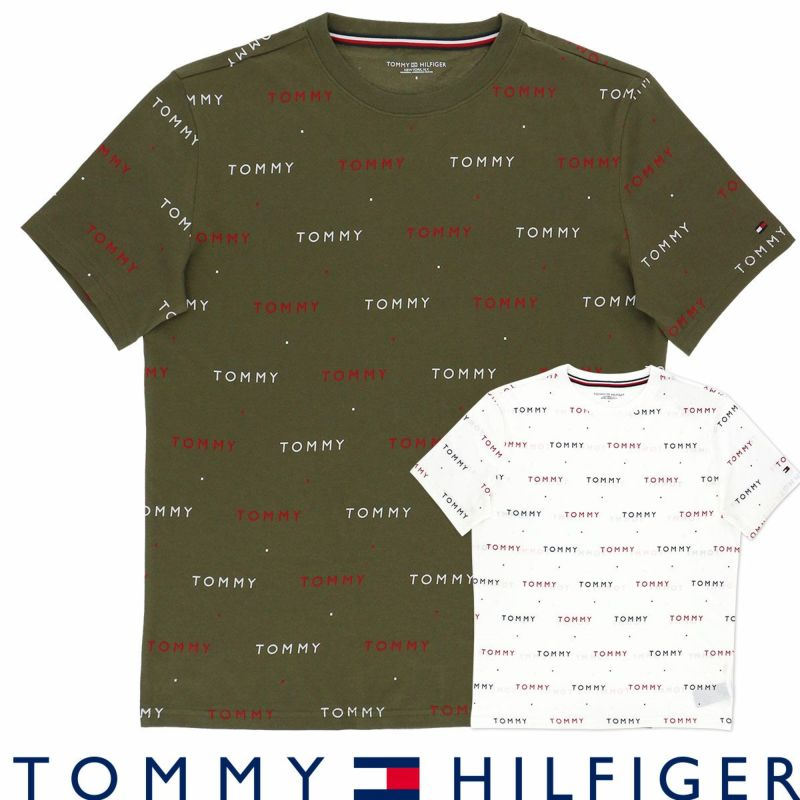 TOMMYHILFIGERトミーヒルフィガーFLEECECNSSTEEPRINT綿100%フリースプリント半袖TシャツEUサイズ53312132男性メンズ紳士プレゼントギフト
