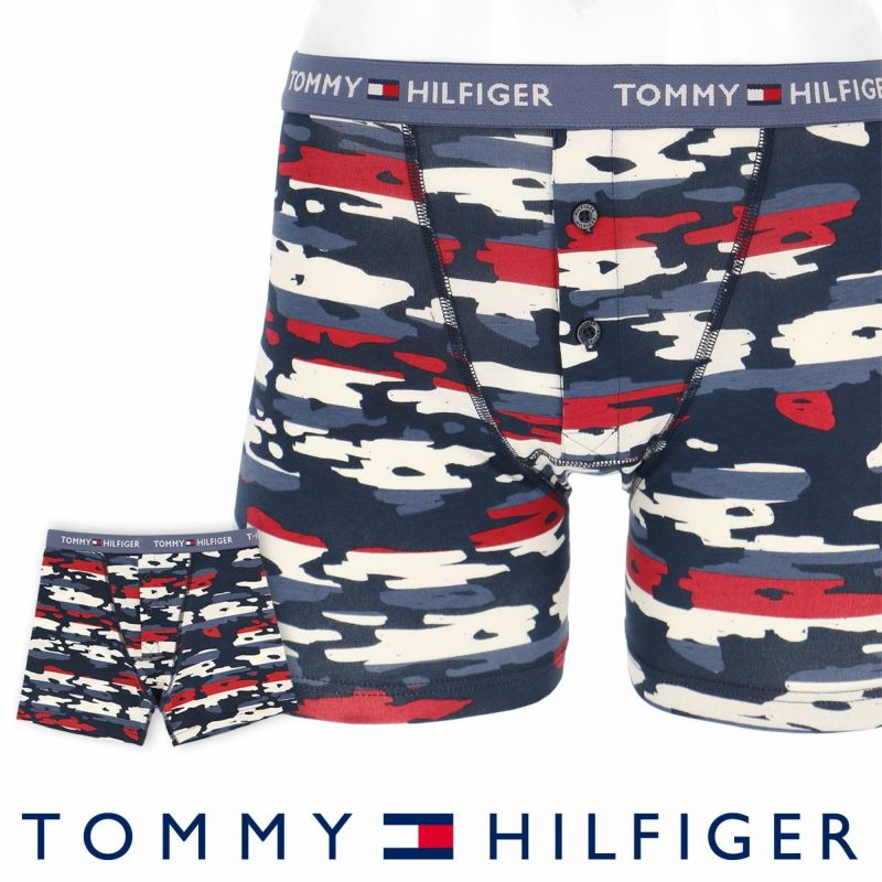 TOMMYHILFIGER トミーヒルフィガーBUTTONFLYBOXERBRIEFCAMOSTRIPEボタンフライカモストライプボクサーパンツ5339-1672男性下着メンズプレゼントギフト誕生日ポイント10倍