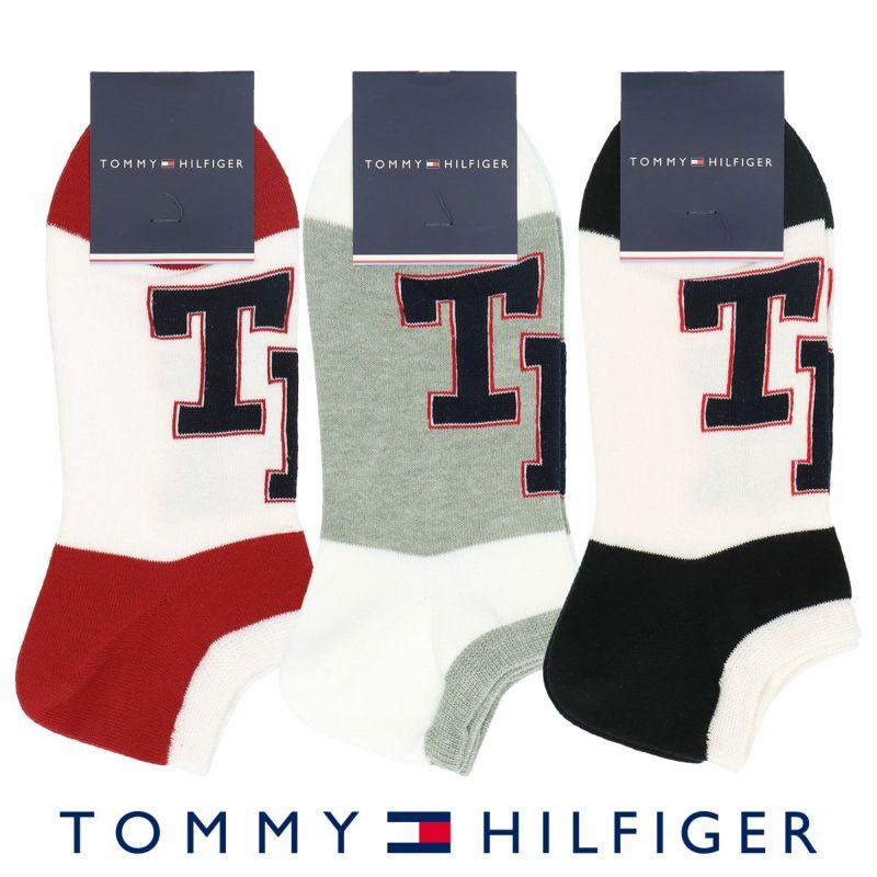 TOMMYHILFIGERトミーヒルフィガー綿混THロゴスニーカー丈メンズカジュアルソックス靴下男性紳士プレゼントギフト02558001