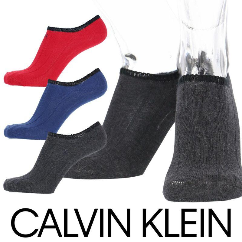 CalvinKlein(カルバンクライン)Casualフットカバーソックス綿混ロゴ刺繍太リブショートソックスメンズカジュアルソックス男性メンズプレゼント贈答ギフト2522-489ポイント10倍