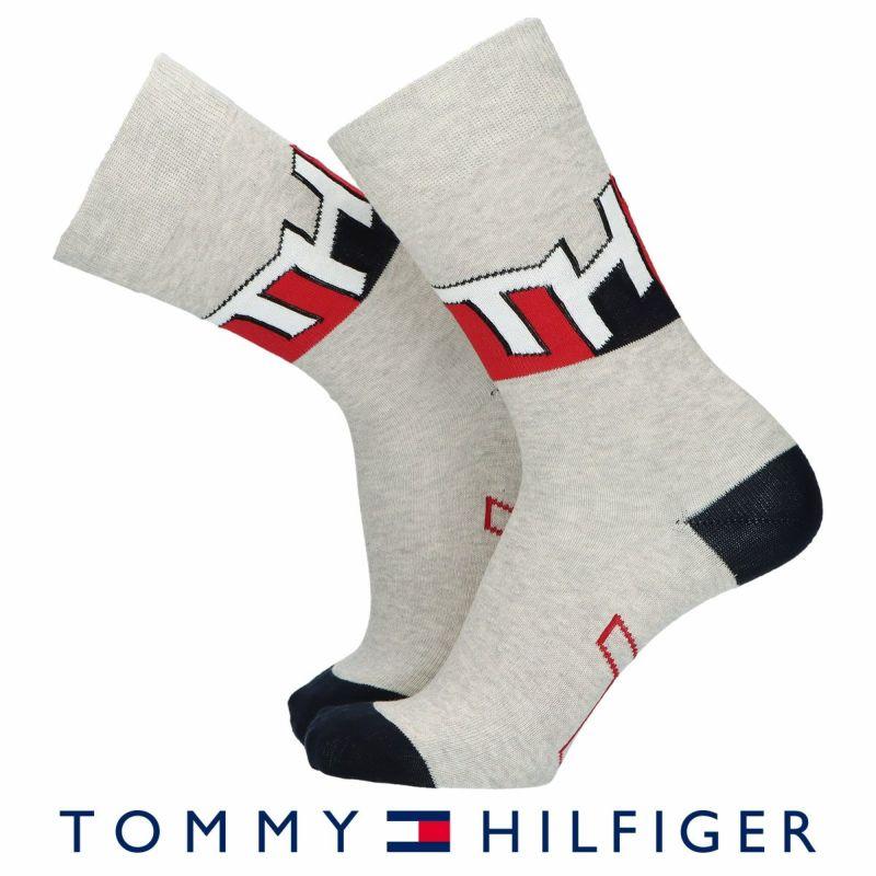 TOMMYHILFIGERトミーヒルフィガー日本製THロゴクルー丈メンズカジュアルソックス靴下男性紳士プレゼントギフトバレンタイン02552600