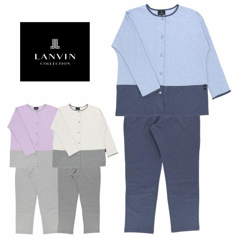 LANVINランバンレディースパジャマコットン100%フロントボタン長袖パンツMサイズ日本製73045522