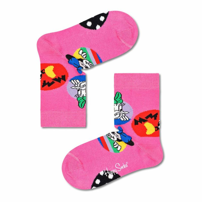 HappySocksハッピーソックス【Limited】HappySocks×Disney(ディズニー)Daisy&MinnieDot(デイジーアンドミニードット)子供クルー丈ソックス靴下KIDSジュニアキッズプレゼント贈答ギフト14213005
