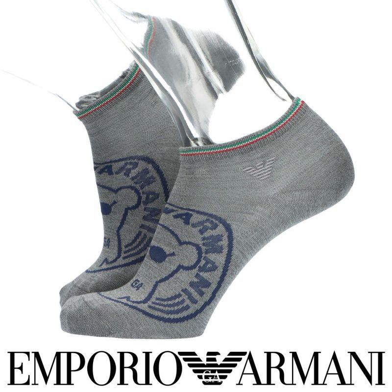 EMPORIOARMANIエンポリオアルマーニスーピマ綿使用サークルベアスニーカー丈メンズカジュアルソックス靴下男性紳士プレゼントギフト公式ショップ正規ライセンス商品02322296